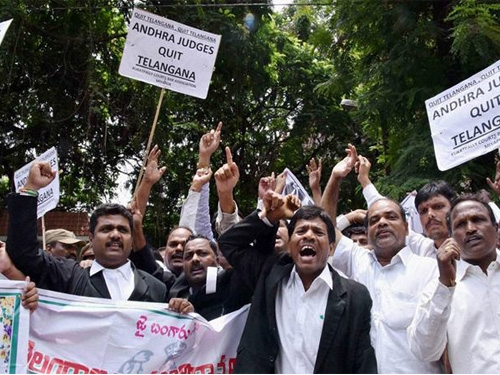 Telangana Judges call off agitation and resumed on work