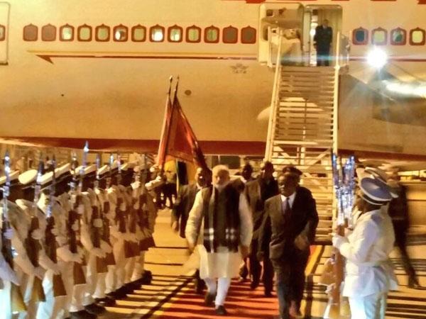 PM Modi reaches Mozambique for his four-nation tour