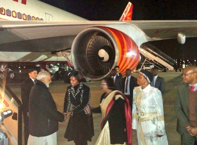 PM Modi concludes his Mozambique visit; arrives in Pretoria to enhance mutual cooperation