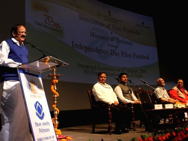 Week-long 'Independence Day Film Festival' begins; films must have social message, says Naidu