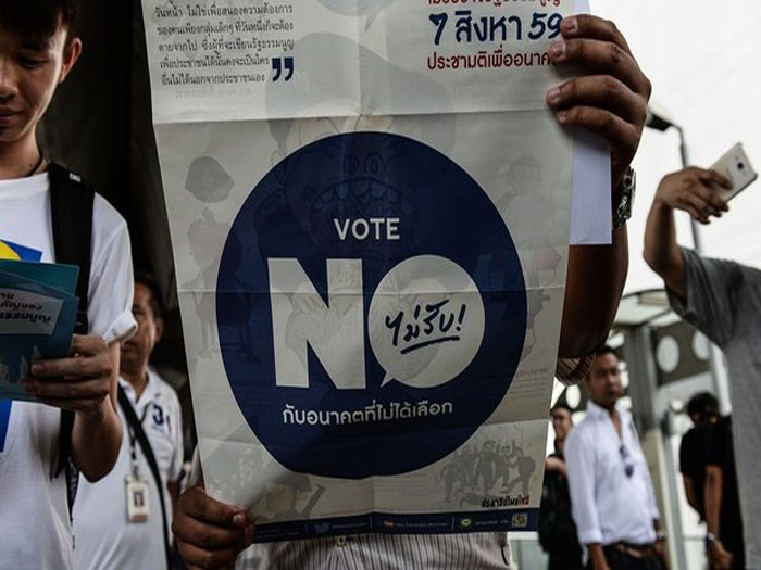 Over 3500 held in Thailand ahead of constitution referendum