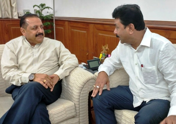Assam's Ranjeet Dass meets Jitendra; discusses various developmental projects under DoNER