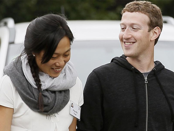 Facebook CEO Mark Zuckerberg and his wife Priscilla Chan donates about $95 million to charity