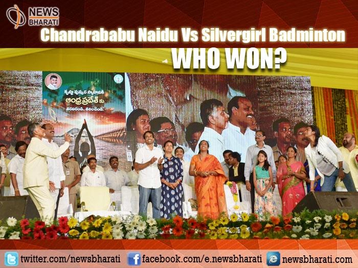 When Silvergirl Sindhu beats Chandrababu Naidu in an open badminton match