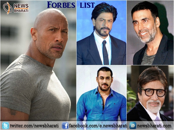 SRK, Akshay, Salman & Big B amid top 20 highest-paid global actors; Dwayne Johnson tops list