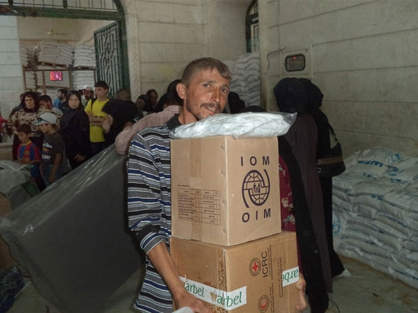 IOM equips 275,000 Syrians stranded in Aleppo with humanitarian assistance