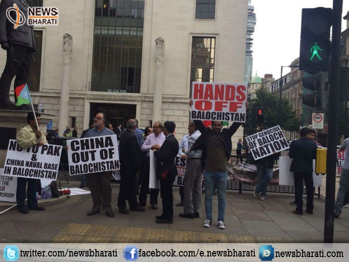 Baloch leaders protest against Pakistan & China outside Chinese Embassy