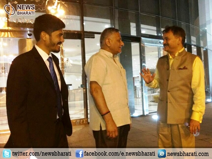 Gen.V K Singh reaches Jeddah with an aim to bring back stranded Indian workers