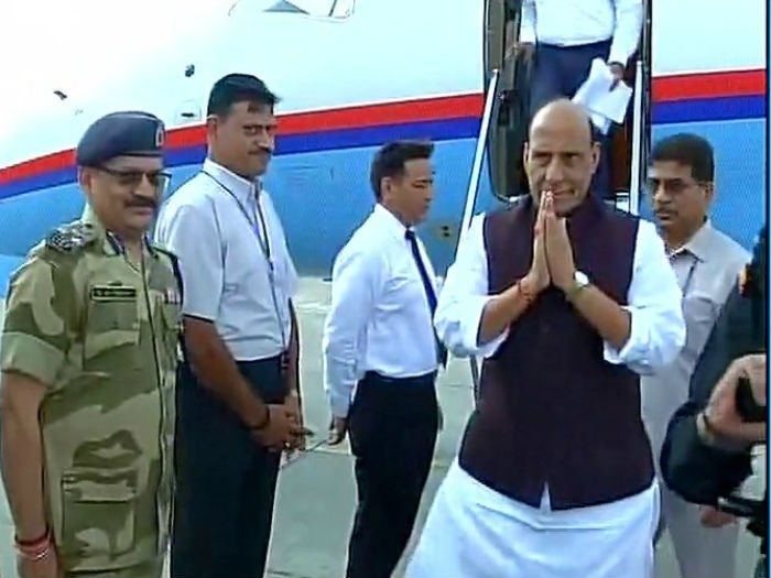 Rajnath delivers stern message to Pak against glorifying terrorists as 'martyrs'