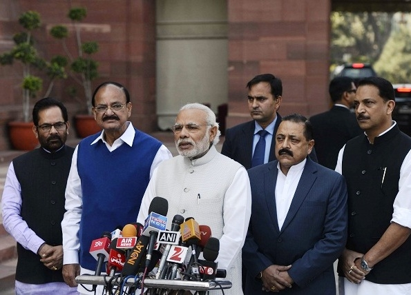 PM Modi thanks members of all parties on the passage of GST Bill; terms it as a 'historic occasion'