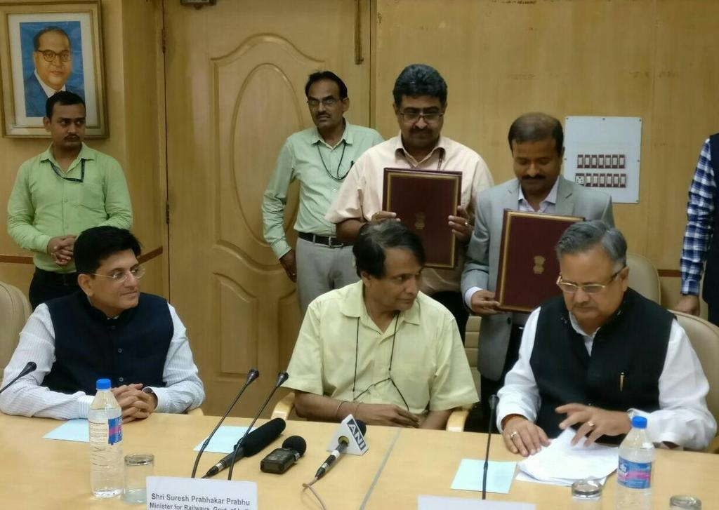 Ministry of Railways and Chhattisgarh Govt ink MoU for formation of joint venture companies