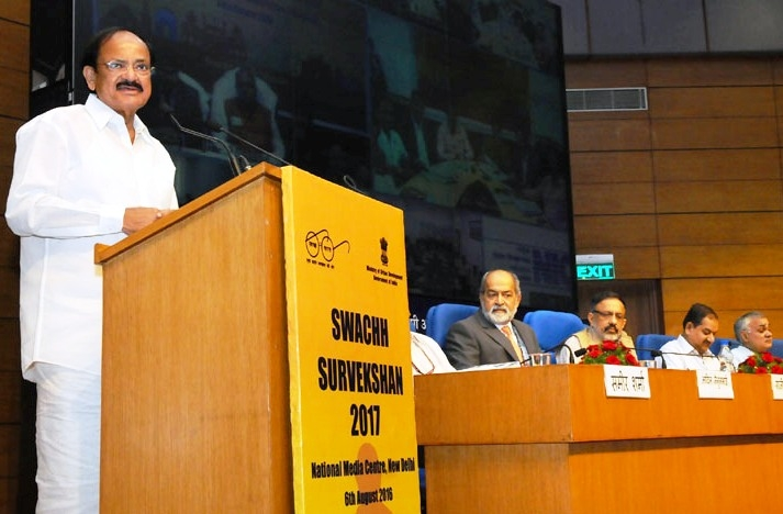 Naidu launches 'Swachh Survekshan' of 500 cities; felicitates sanitation workers for  exemplary work
