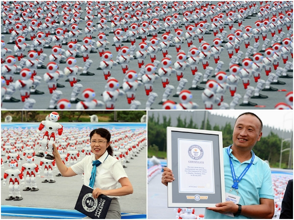 Most number of dancing robots clinches Guinness world record title for China
