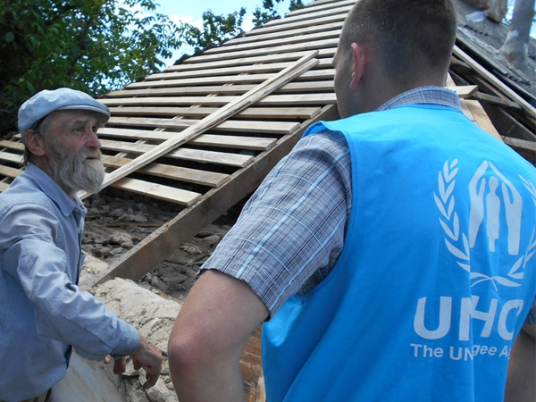 United Nation provides aid to people in Ukraine after being affected by internal displacement