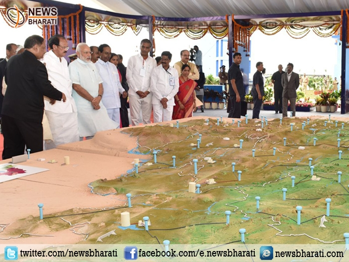 PM Modi launches 'Mission Bhagiratha'; lays foundation stone of development projects in Telangana