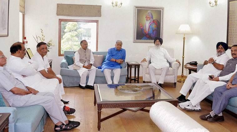RSS delegation meets Punjab CM Parkash Singh Badal