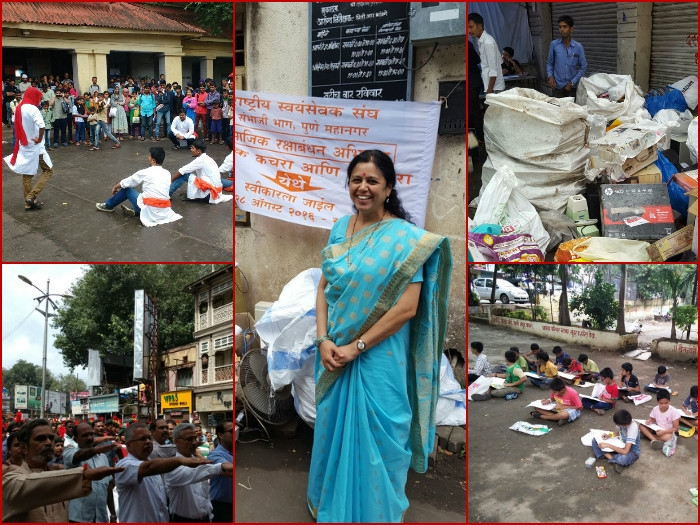 RSS activists collect over 45 ton plastic, e-waste in just four hours in Pune