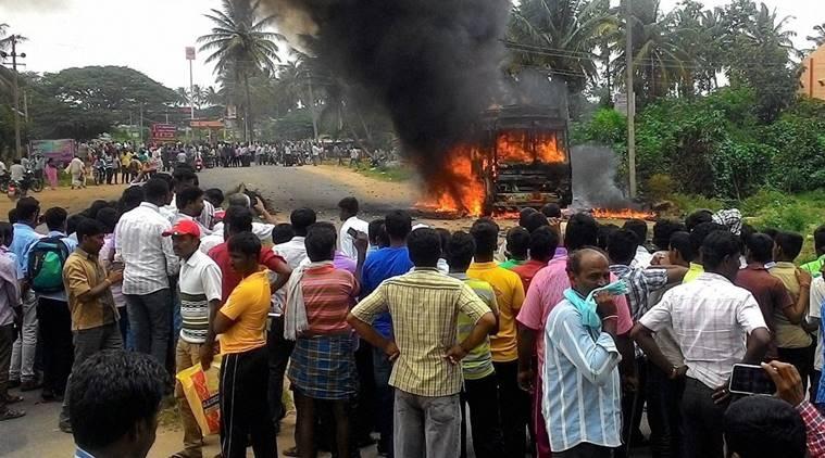 Cauvery dispute: Bengaluru faces destruction of public property; Rajnath assured help