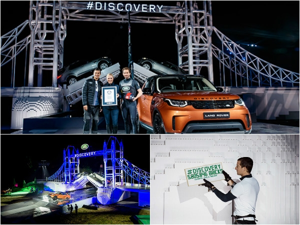 Land Rover launch sets world record with largest Lego sculpture of London's Tower Bridge
