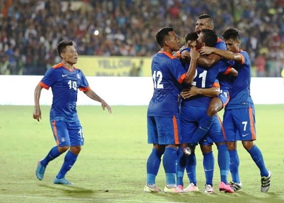 Football fans cheer loud as host India defeats Puerto Rico by 4-1 in friendly match