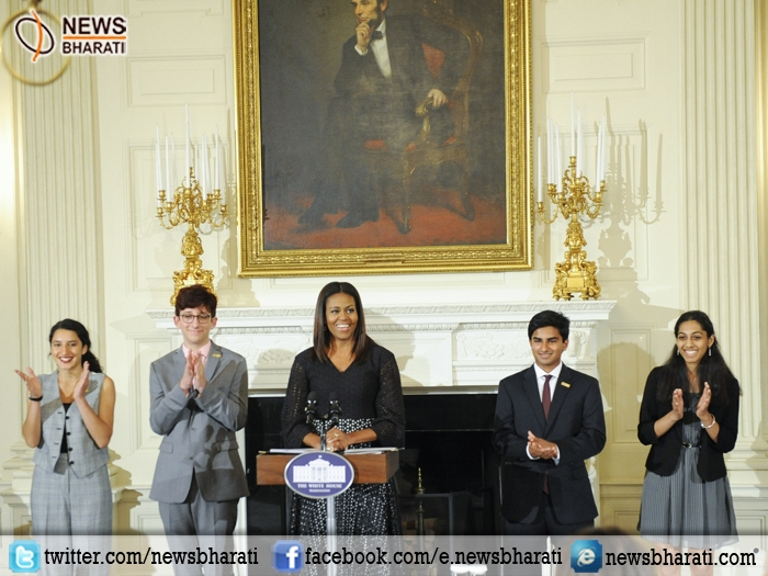 India at the White house: three Indian-origin students hounoured by Michelle Obama