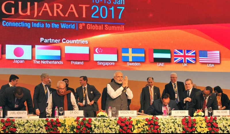 Prime Minister Modi inaugurates Vibrant Gujarat Summit; Calls India a bright spot in the global economy