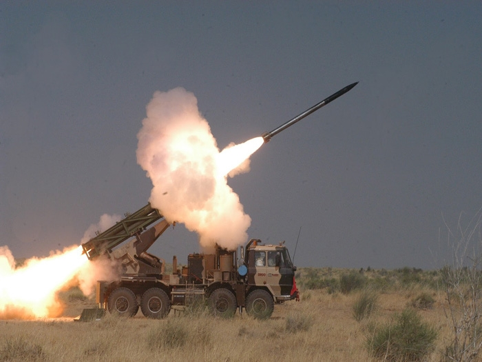 Successful test firing of Guided Pinaka conducted