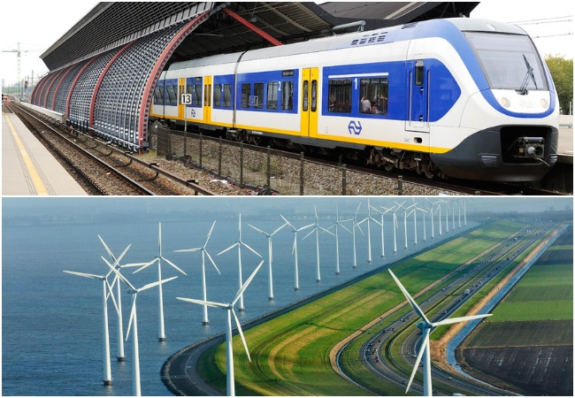 Netherlands running its all electric trains by wind energy; can we do that too?