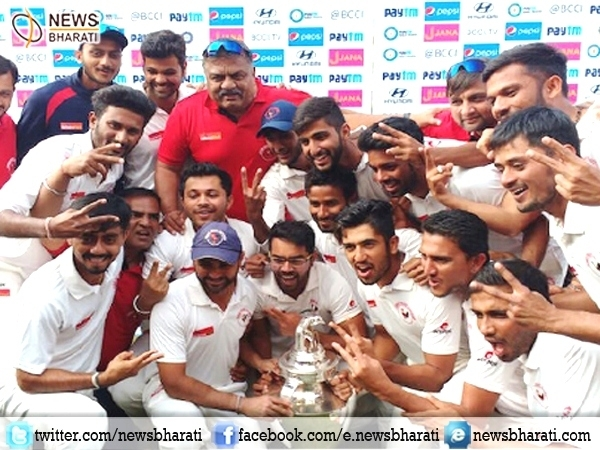 Gujarat beats Mumbai in finals of Ranji Trophy; bags title for the first time ever