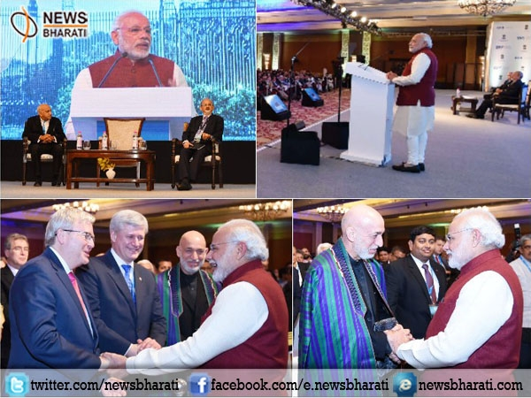 #Raisina2017 : Modi says harmonious ties with entire South Asia is India's belief; tells Pakistan to walk away from terror