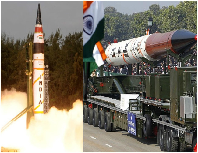 Nuke-capable strategic missile Agni-IV successfully test fired
