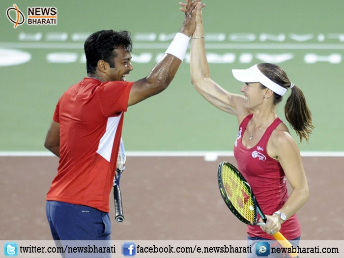 Leander Paes-Hingis storms into Australian Open mixed doubles quarters