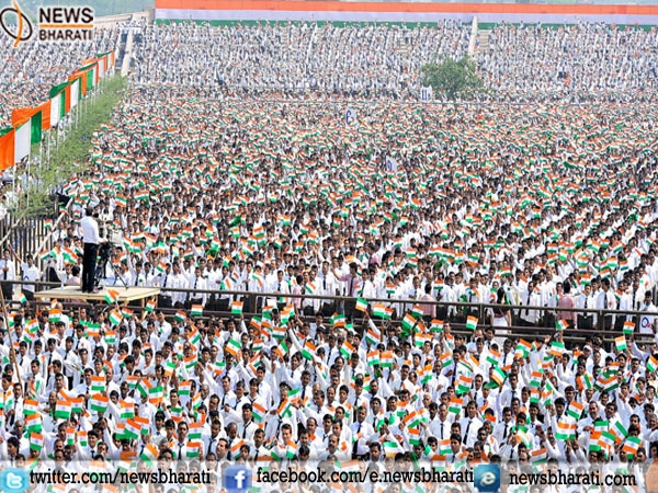 "3.5 Lakh Indians beat record of Bangladesh by singing ""Jana Gana Mana"""