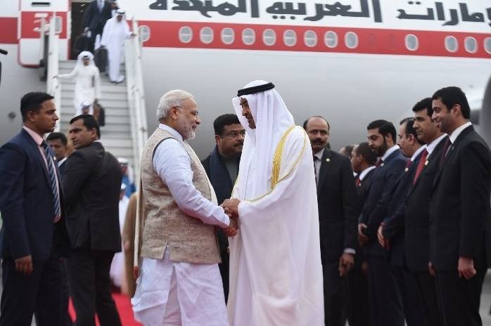 PM Modi welcomes UAE Crown Prince at Delhi airport