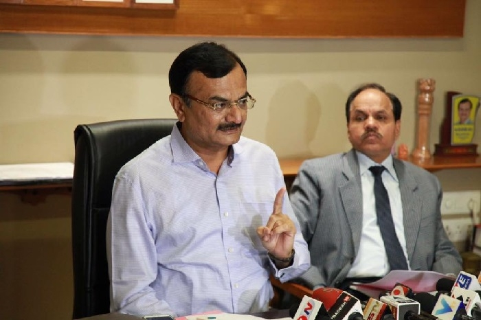 Gujarat Home Minister Pradeepsinh Jadeja reviews security arrangements for Vibrant Gujarat Summit