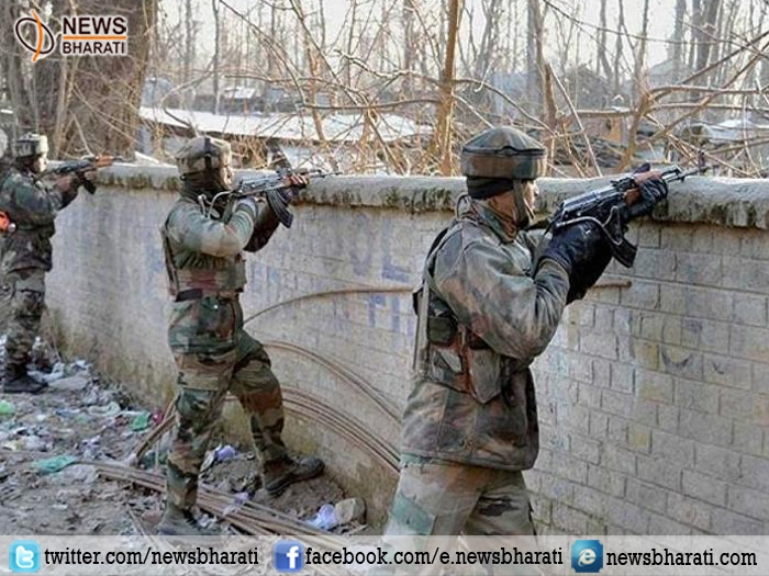 Security forces gunned down two Lashkar terrorists in Pulwama district of south Kashmir