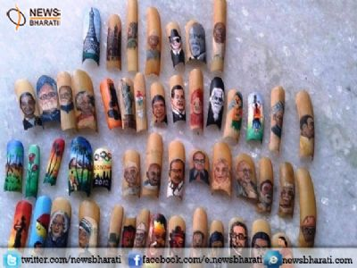 Hyderabad artist 'Nails it':Have a look at these 'Nail Potraits'