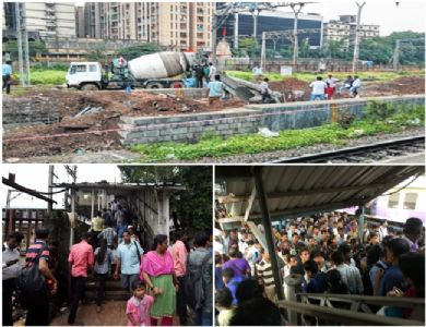Construction of New foot over bridge starts in Elphinstone Road station