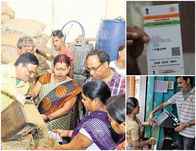 Aadhaar card compulsory for receiving subsidized food grains from ration shops