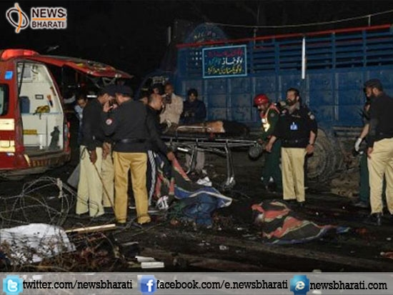 13 people killed and 85 injured in a bomb blast outside Punjab assembly in Pakistan