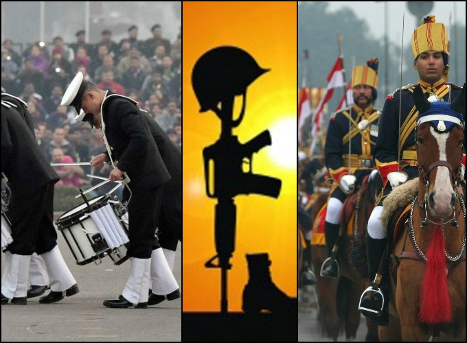 Band display and retreat ceremony to salute 'Martyrs'