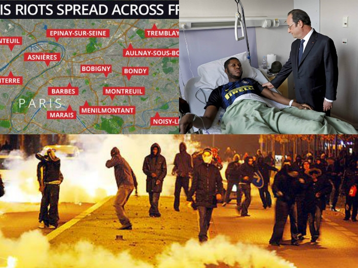 Riots erupt in France alleging police officers involved in rape of black man