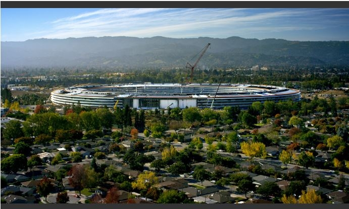Apple's new spaceship campus 'The Steve Jobs Theatre' will open in April