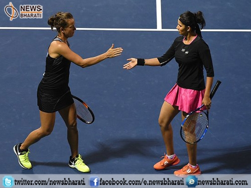 Sania Mirza-Strycova advanced to quarterfinals of Indian Wells Masters