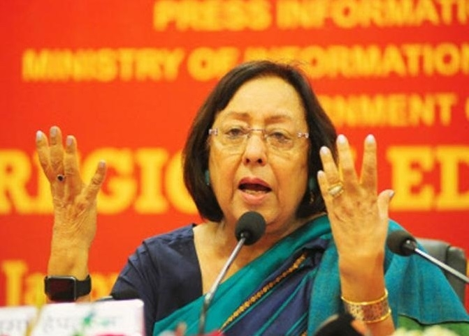 Revoke the decision of economic blockade for the larger interest of Manipur : Governor Najma Heptulla