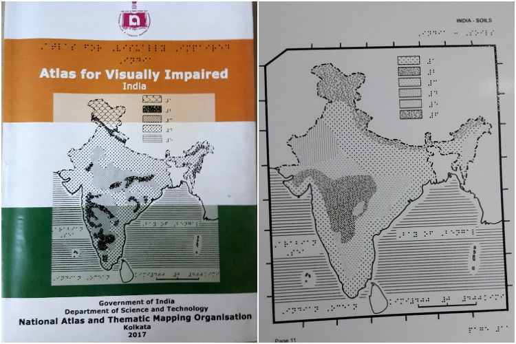India unveiled Braille atlas for visually impaired people
