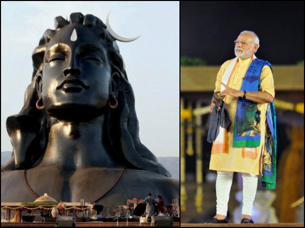 Unveiling 112 feet tall statue of Lord Shiva PM Modi said 'Yoga is a journey from me to we'