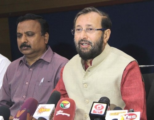 BJP will emerge as a single largest party in the state of Manipur : Union Minister Javadekar