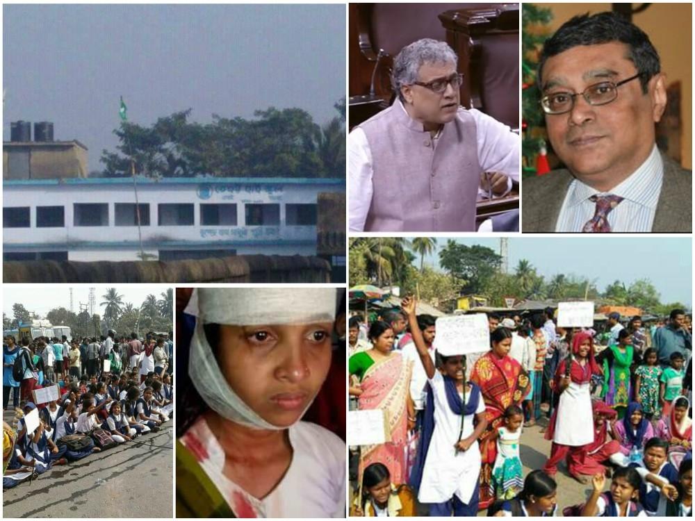 TMC MPs try to bully Swapan Dasgupta on raising #TehattaTerror and ban on #SaraswatiPuja