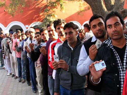 Re-polling in five districts of Punjab underway